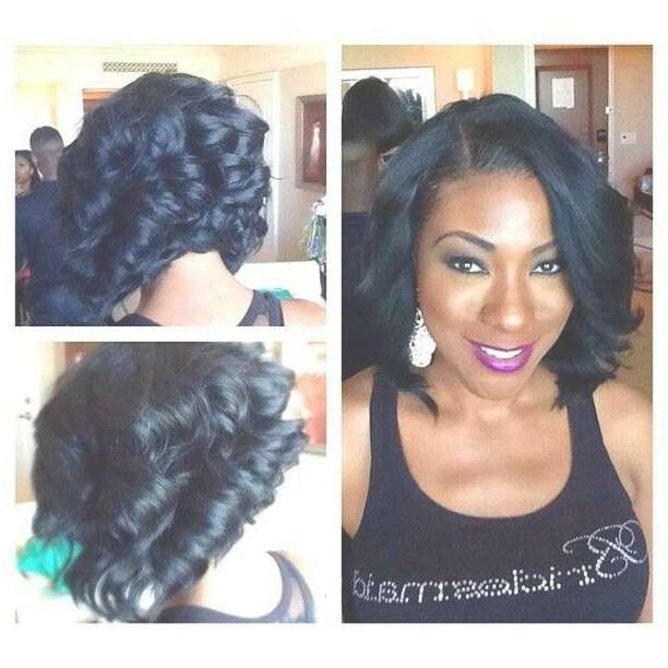 Hairstyles For Black Women With Medium Relaxed Hair Regarding Best And Newest Medium Haircuts For Relaxed Hair (View 5 of 25)