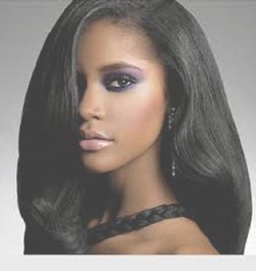 Hairstyles For Black Women With Medium Straight Hair | Popular With Most Up To Date Medium Hairstyles For Black Women (View 19 of 25)