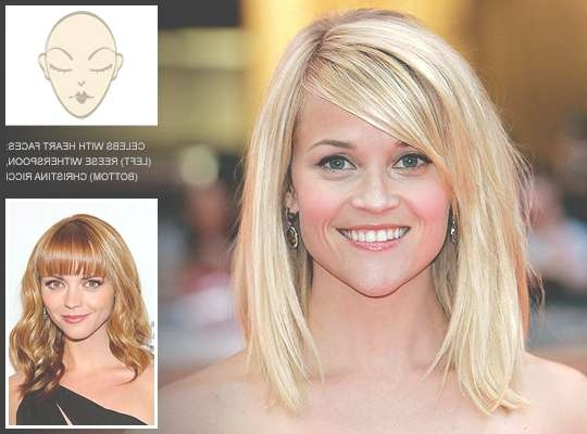 Hairstyles For Heart Face Shapes With Most Up To Date Medium Hairstyles For Heart Shaped Faces (View 15 of 25)