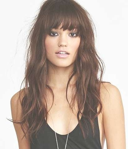 Hairstyles For Long Hair With Long Bangs Best 25 Bangs Long Hair In Most Recently Long Hairstyle With Fringe (View 15 of 25)