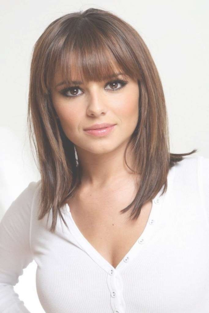 Hairstyles For Medium Hair Length With Bangs With Regard To Most Popular Bangs Medium Hairstyles (View 14 of 25)