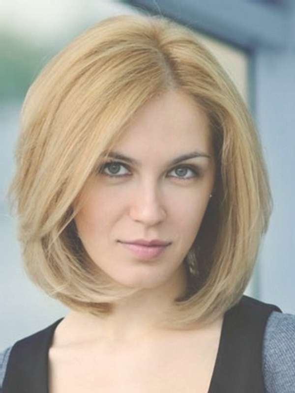 Hairstyles For Medium Thin Hair Round Face With Regard To Most Recent Medium Haircuts For Women With Round Faces (View 19 of 25)
