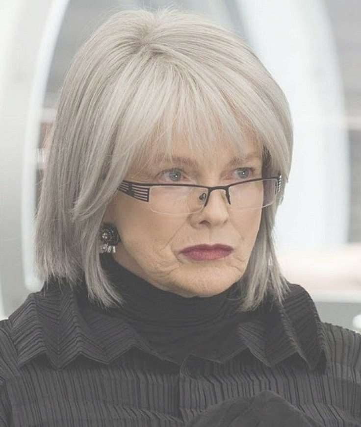 Hairstyles For Women Over 60 With Glasses | Glass, Haircuts And Woman Within Most Current Medium Haircuts For Women With Grey Hair (View 10 of 25)