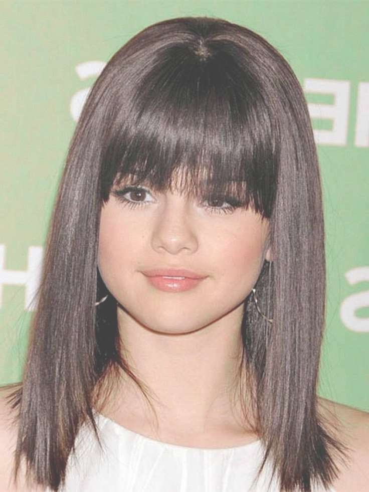 Hairstyles Ideas : Medium Haircuts For Thick Hair And Round Faces Throughout Recent Round Face Medium Hairstyles With Bangs (View 17 of 25)