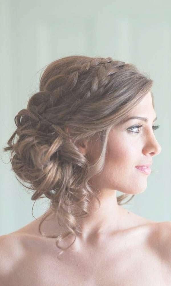 Hairstyles Ideas Medium Length Wedding Hairstyles Pinterest Tips Regarding Best And Newest Bridal Medium Hairstyles (View 2 of 25)