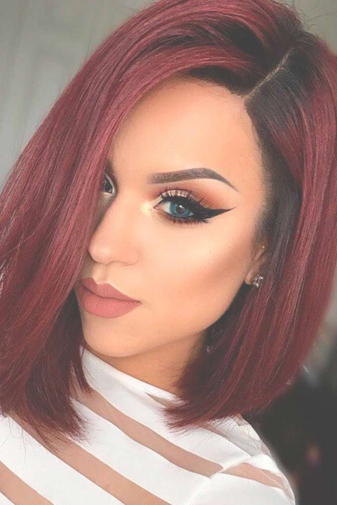 Hairstyles Ideas : Short Hairstyles Red Highlights Eye Catching Within Most Up To Date Medium Hairstyles For Red Hair (View 16 of 25)