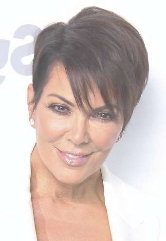 Hairstyles: Kris Jenner – Short Sideswept Hairstyle Inside Latest Medium Haircuts Kris Jenner (View 21 of 25)