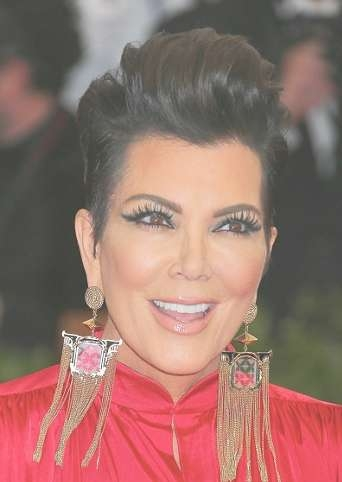 Hairstyles: Kris Jenner – Sleek Faux Updo | Sophisticated Allure Within Most Recent Medium Haircuts Kris Jenner (View 24 of 25)