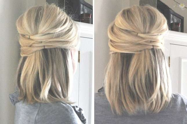 Hairstyles Simple For Medium Hair With Regard To Best And Newest Medium Hairstyles For Work (View 5 of 15)