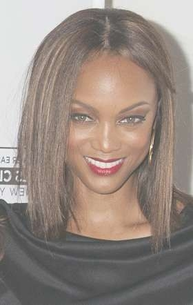 Hairstyles: Tyra Banks – Medium Straight Hairstyle | Sophisticated For Most Recently Tyra Banks Medium Hairstyles (View 14 of 15)