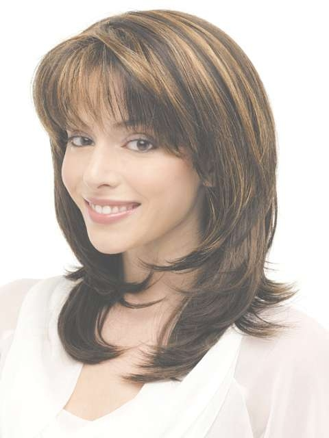 Hairstyles With Bangs For Medium Hair 2017 With Regard To Most Popular Layered Medium Hairstyles With Bangs (View 13 of 15)