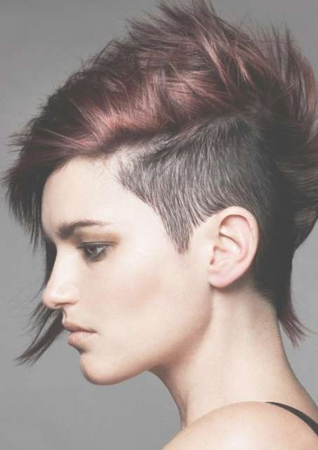 Half Shaved Long Hair Medium Short Punk Hairstyles For Women Within Recent Half Shaved Medium Hairstyles (View 18 of 25)