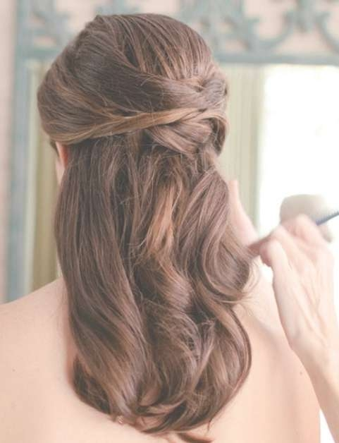 Half Up And Down Hairstyles For Medium Length Hair Throughout Most Popular Half Up Medium Hairstyles (View 7 of 25)