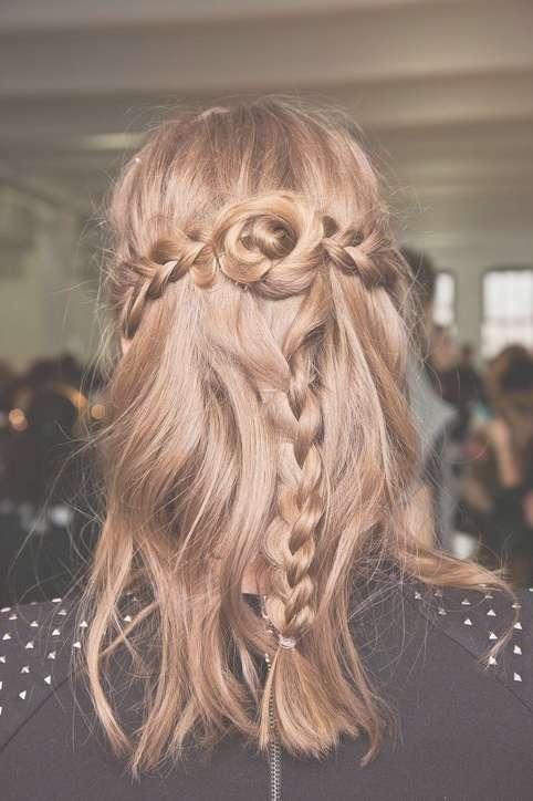 Half Up Down Hairstyles Medium Length Hair Throughout Latest Half Long Half Medium Hairstyles (View 11 of 15)