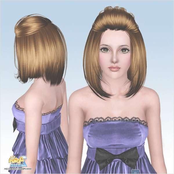 Half Up Half Down Bob Haircut Id 629Peggy Zone – Sims 3 Hairs For Half Up Half Down Bob Haircuts (View 17 of 25)