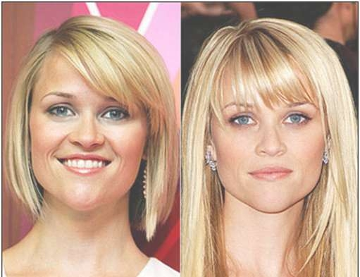 Heart Shaped Face Best Short Bangs Hairstyle For Fine Hair Pear With Regard To 2018 Medium Hairstyles For Pear Shaped Faces (View 9 of 15)