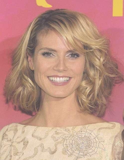 Heidi Klum Medium Curls Hair Styles – Popular Haircuts Regarding Recent Medium Hairstyles Curly (View 12 of 25)