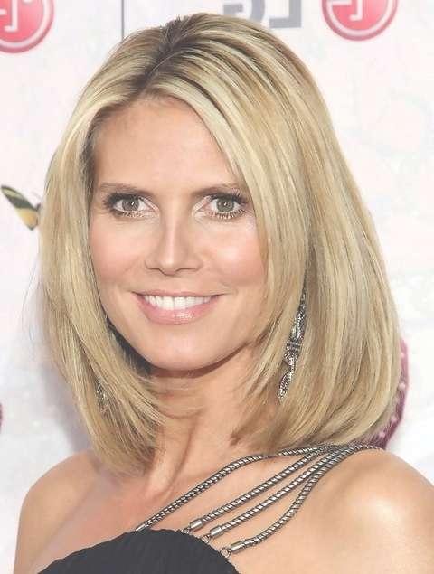 Heidi Klum Mid Length Hairstyle: Sleek Bob – Pretty Designs In Most Up To Date Heidi Klum Medium Haircuts (View 11 of 25)