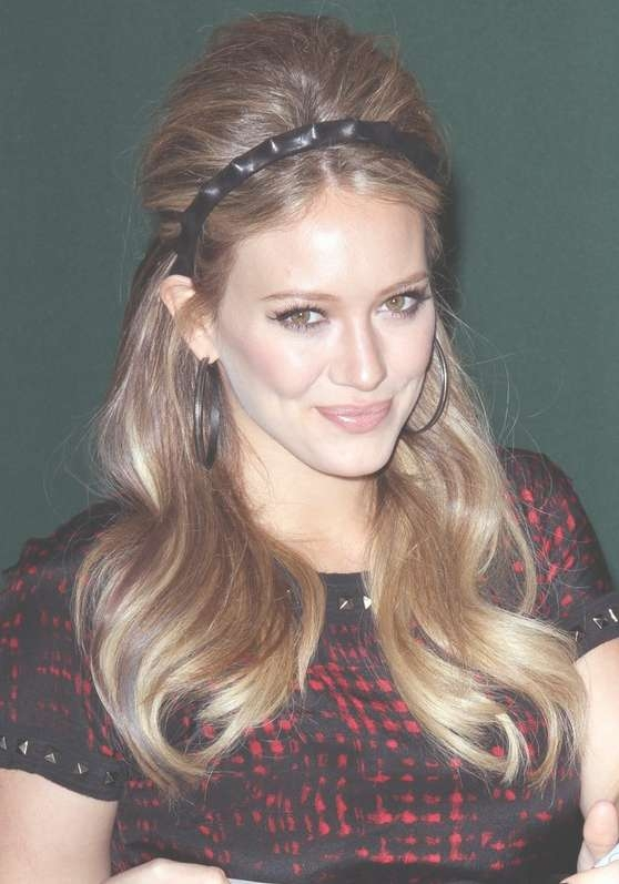Hilary Duff 1960S Retro Hairstyle For Long Hair – Hairstyles Weekly With Latest 1960S Medium Hairstyles (View 22 of 25)