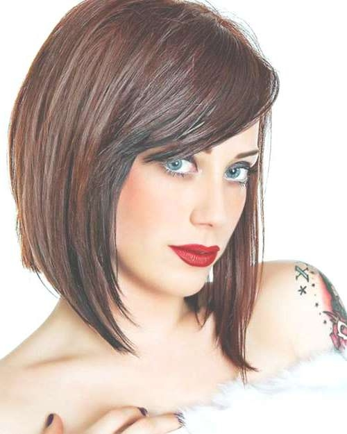 Photo Gallery of Medium Haircuts For Thick Fine Hair (Showing 23 of ...