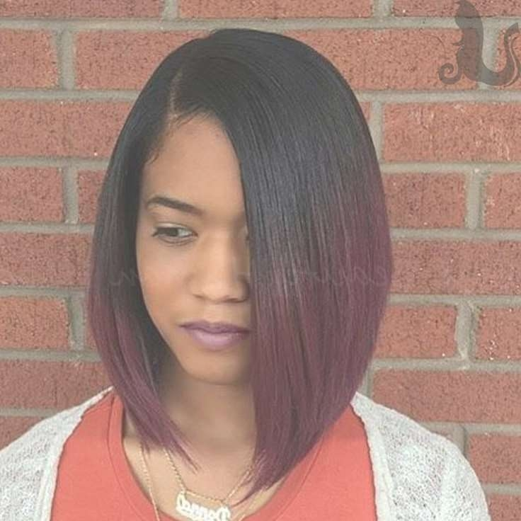 Hottest Black Hair Colors And Hairstyles – Page 2 – Haircuts And Within 2018 Medium Hairstyles With Color For Black Women (View 5 of 15)