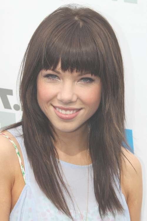 Image Of Fall Hairstyles For Medium Hair On 2016 Haircut Styles In Recent Medium Haircuts Styles With Bangs (View 14 of 25)
