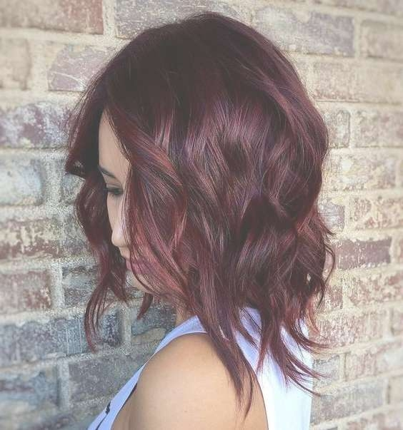 Imaginative Medium Length Hairstyles – Hair World Magazine Regarding Most Recent Burgundy Medium Hairstyles (View 12 of 15)