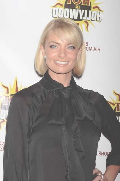 Jaime Pressley's Simple Bob Tucked Behind The Ears In Bob Haircuts Tucked Behind The Ears (View 16 of 25)
