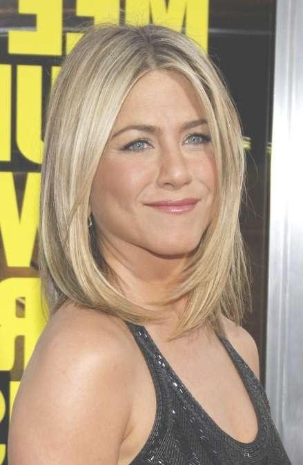 Jennifer Aniston Bob Haircut: Medium Straight Hairstyle For Women with regard to Shoulder Bob Hairstyles