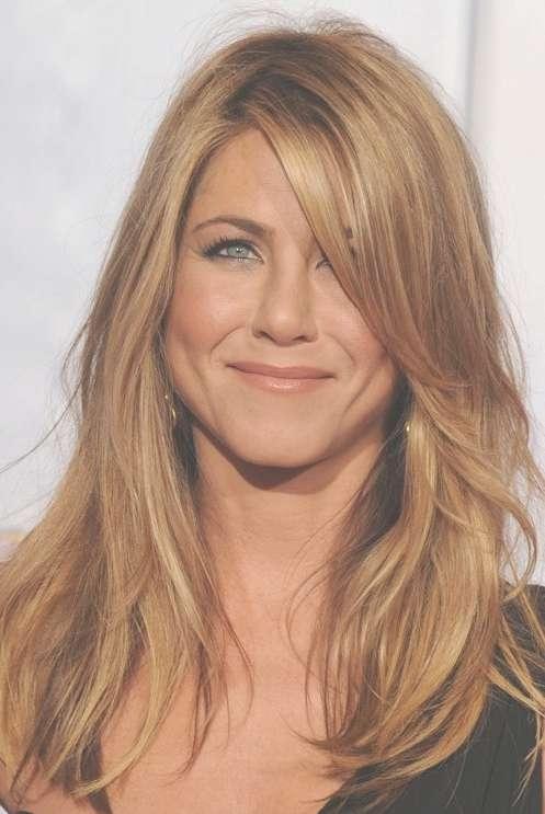 Jennifer Aniston Hairstyles: Blonde Medium Straight Hair - Popular regarding Recent Medium Haircuts For Straight Hair