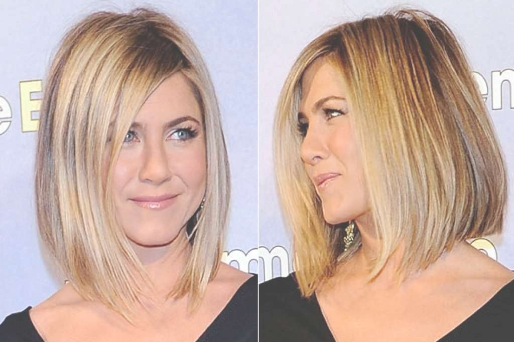 Jennifer Aniston Long Bob Haircuts – Women Medium Haircut Pertaining To Jennifer Aniston Long Bob Haircuts (View 20 of 25)