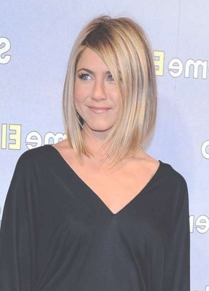 Jennifer Aniston Long Bob Hairstyle - Bob Haircuts 2015 pertaining to Jennifer Aniston Long Bob Haircuts