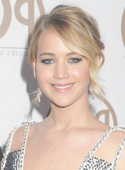 Jennifer Lawrence - Beauty Riot with Most Current Jennifer Lawrence Medium Haircuts