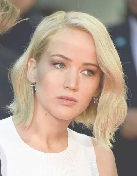Jennifer Lawrence Goes Trendy With New Platinum Bob Haircut intended for Jennifer Lawrence Bob Haircuts Jennifer Lawrence