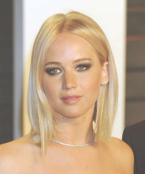 Jennifer Lawrence Medium Straight Casual Bob Hairstyle – Light Within Jennifer Lawrence Bob Haircuts Jennifer Lawrence (View 15 of 25)