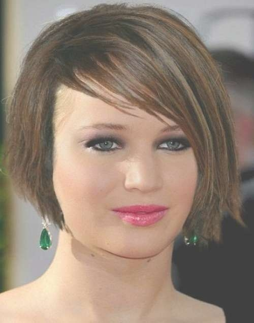 Jennifer Lawrence Short Bob Hairstyles Pertaining To Jennifer Lawrence Bob Haircuts Jennifer Lawrence (View 16 of 25)