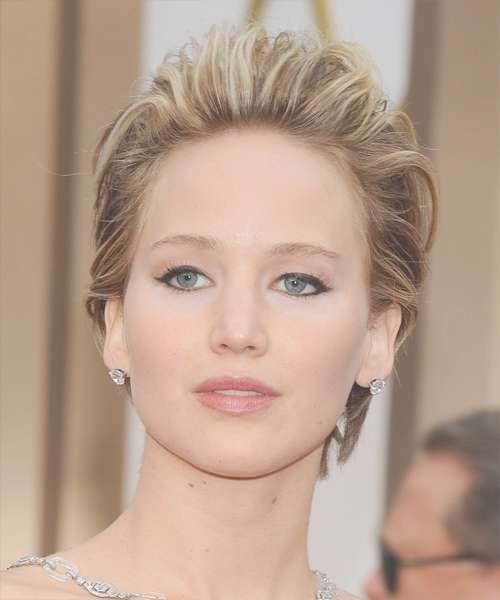 Jennifer Lawrence Short Straight Formal Hairstyle - Medium regarding Most Popular Jennifer Lawrence Medium Hairstyles