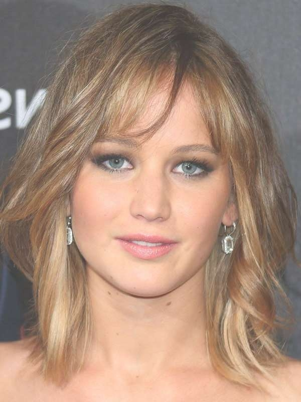 Jennifer Lawrence Stunning Medium Length Hairstyles Inside Most Up To Date Jennifer Lawrence Medium Hairstyles (View 17 of 25)