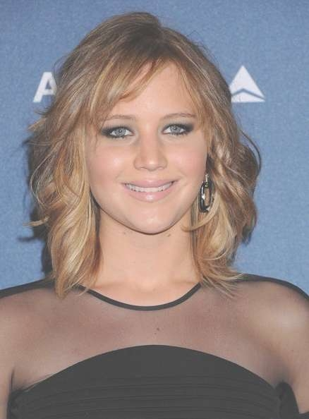 Jennifer Lawrence Stunning Medium Length Hairstyles regarding Latest Jennifer Lawrence Medium Haircuts