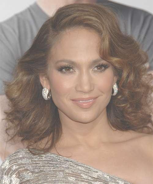 Jennifer Lopez Medium Wavy Formal Hairstyle - Medium Brunette with regard to Most Recent Jennifer Lopez Medium Haircuts