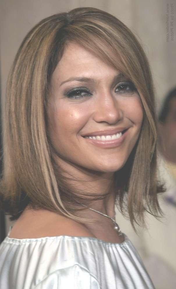 Jennifer Lopez Wearing Blunt Cut Medium Length Hair With Highlights regarding 2018 Jennifer Lopez Medium Haircuts