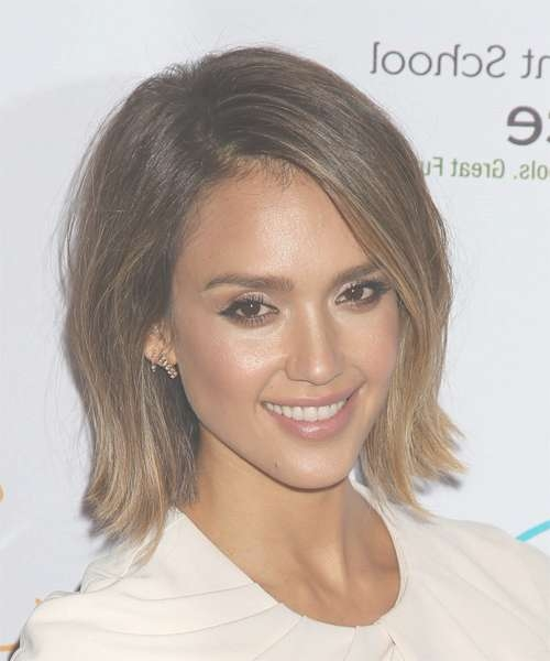 Jessica Alba Hairstyles In 2018 pertaining to Latest Jessica Alba Medium Haircuts