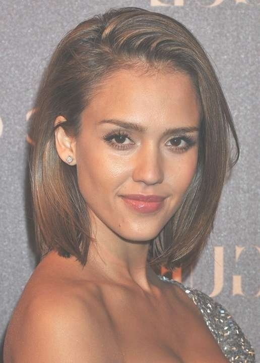 Jessica Alba Hairstyles: Short Bob Haircut - Popular Haircuts pertaining to Jessica Alba Long Bob Haircuts