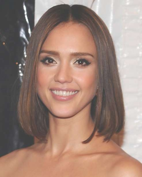 Jessica Alba Hairstyles: Straight Long Bob – Popular Haircuts With Straight Long Bob Hairstyles (View 19 of 25)
