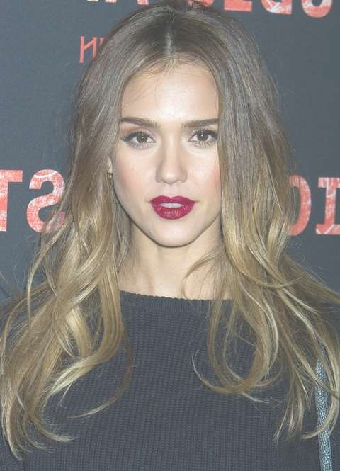 Jessica Alba Long Hairstyles: Ombre Loose Curls For All Face intended for Jessica Alba Long Bob Haircuts