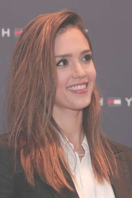 Jessica Alba Long Straight Red Hairstyle - Hairstyles Weekly within Jessica Alba Long Bob Haircuts