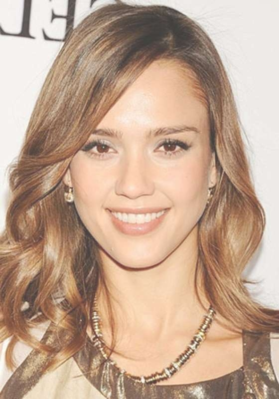 Jessica Alba Long Wavy Hairstyles for Jessica Alba Long Bob Haircuts
