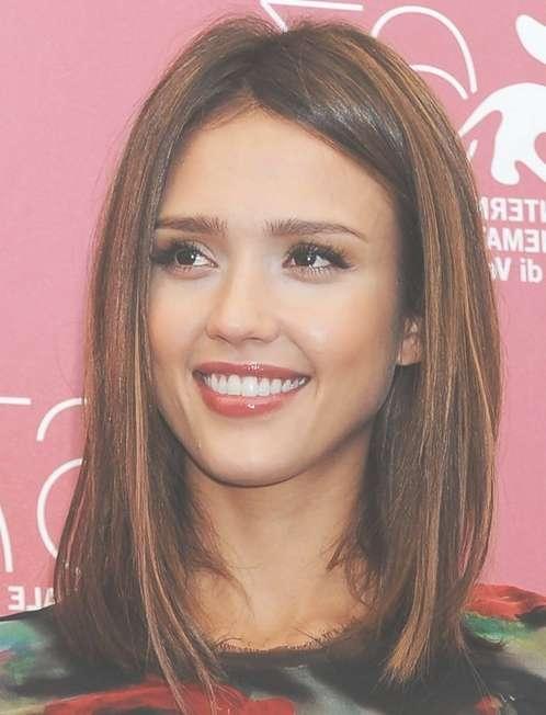 Jessica Alba Shoulder-Length Hairstyles: Straight Hair - Popular with regard to Most Popular Jessica Alba Medium Haircuts