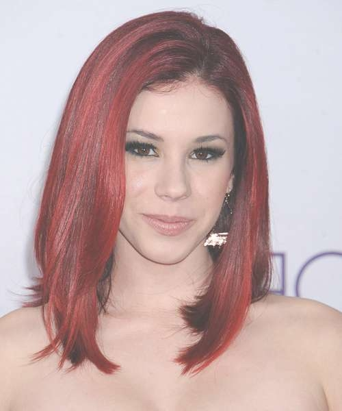 Jillian Rose Reed Medium Straight Casual Emo Hairstyle – Medium With Regard To Most Up To Date Red Medium Hairstyles (View 11 of 25)