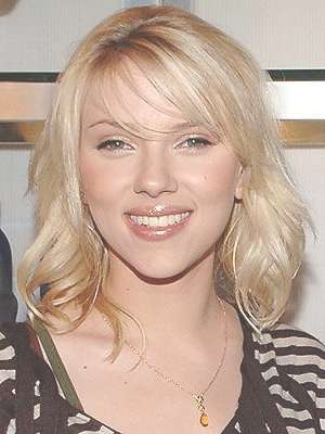 Johansson Shoulder Length Hairstyle throughout Current Scarlett Johansson Medium Hairstyles